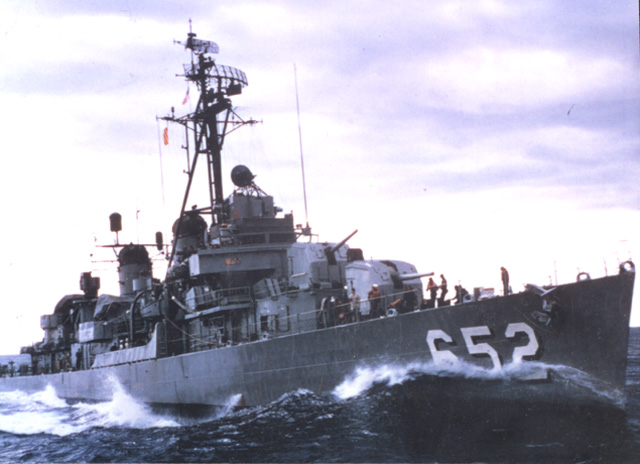 USS INGERSOLL (DD-652) - photo courtesy of Bill Cole